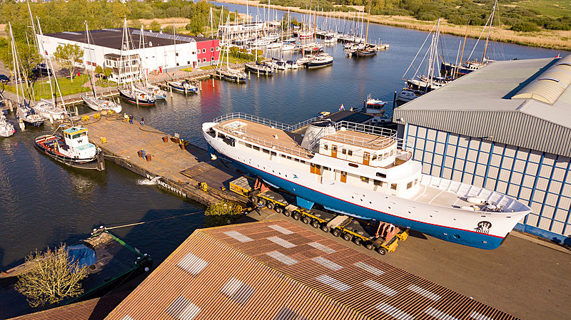 Istros yacht under refit at Feadship