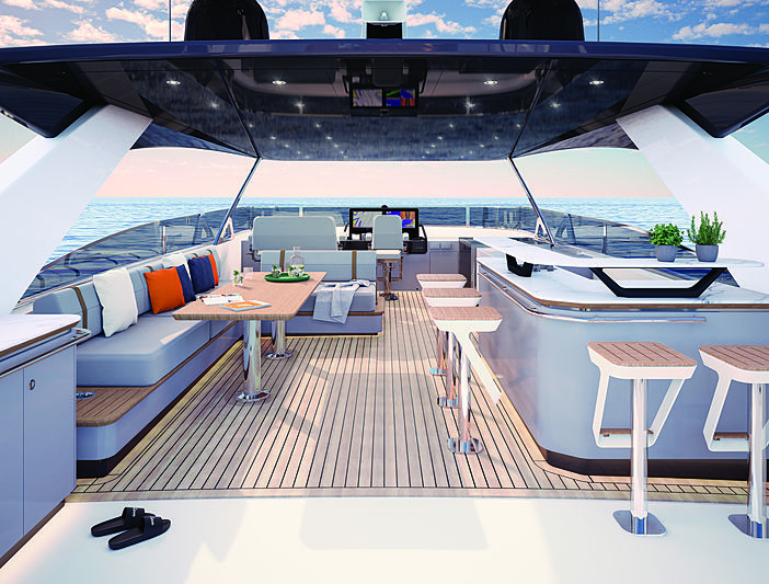 CLB88 yacht rendering