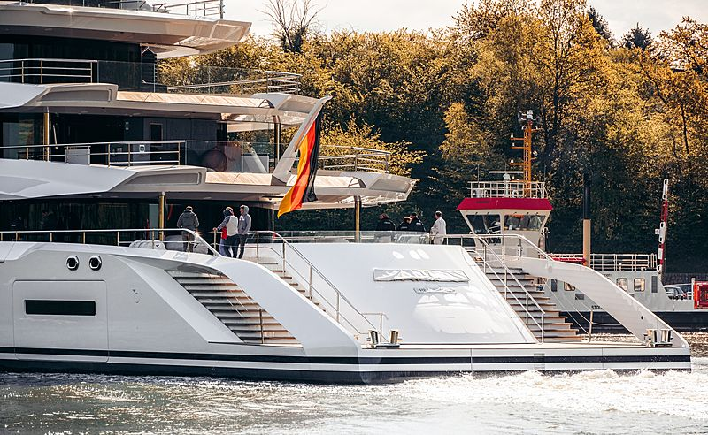 Project Hawaii yacht by Lürssen sea trials
