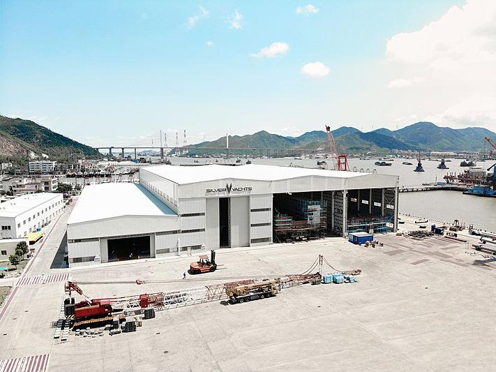 SilverYachts shipyard facility in Jiangmen