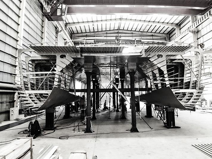 SpaceCat hull 01 in build in Henderson