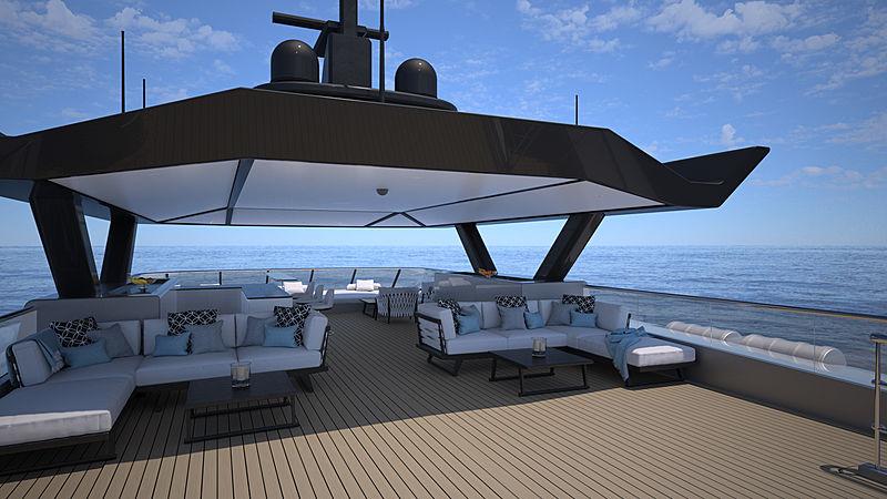SpaceCat yacht exterior rendering