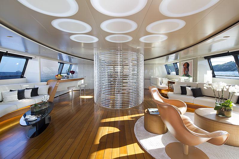 Panthalassa yacht living room