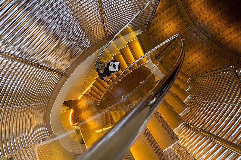 Panthalassa yacht staircase