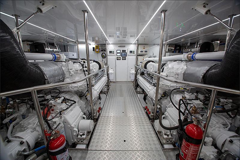 Al Duhail yacht engine room