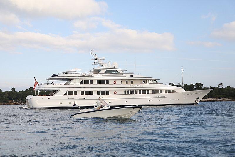 New Hampshire yacht at anchor