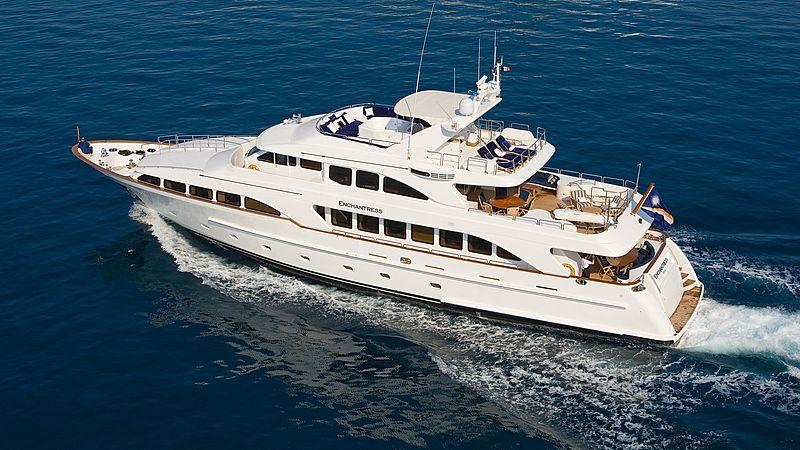 Enchantress yacht cruising