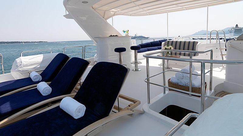 Enchantress yacht sundeck
