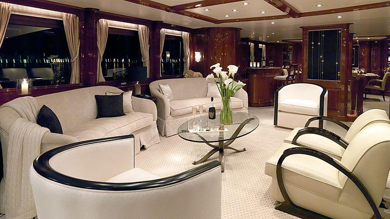 Enchantress yacht saloon