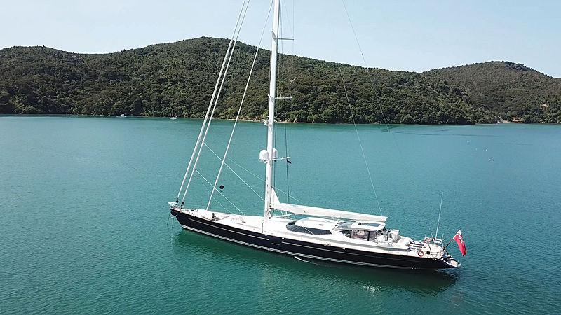 Koo yacht at anchor