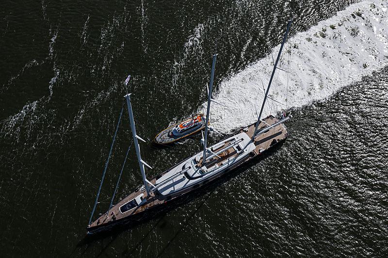 Sea Eagle II yacht under sea trials