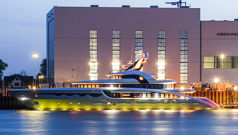 Soaring yacht by Abeking & Rasmussen in Lemwerder, Germany