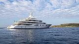 Valerie yacht anchored