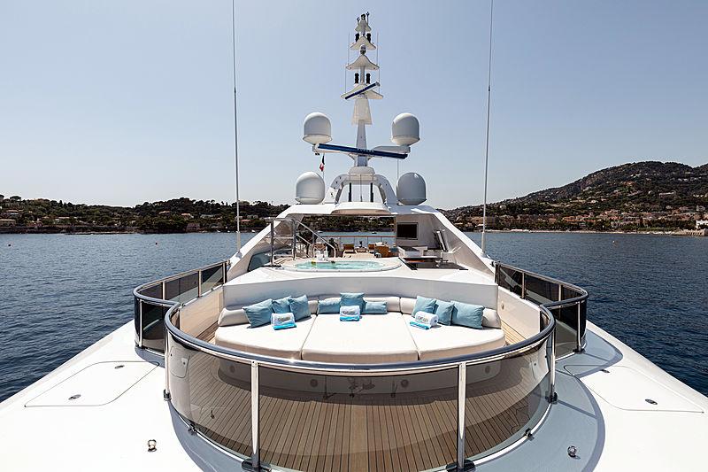 Karianna yacht sundeck