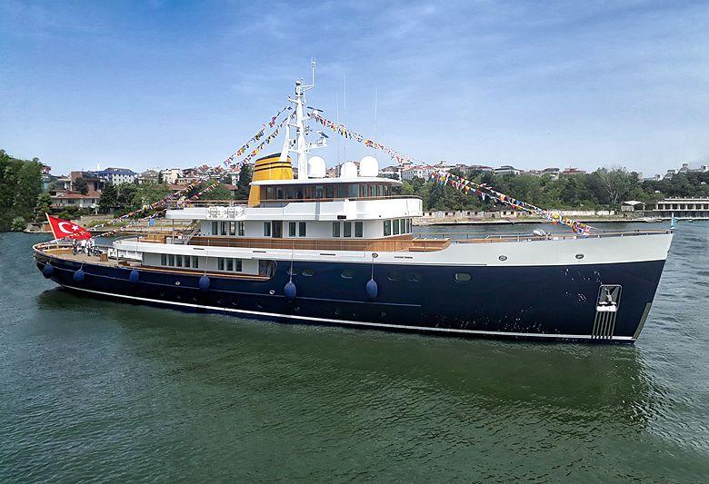 Turquoise yacht Blue II launch in Pendik