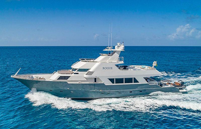 Rogue yacht cruising