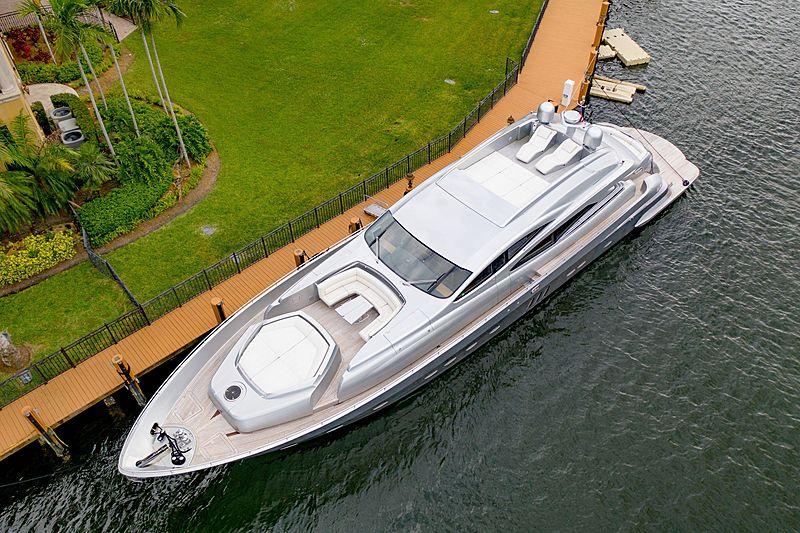 Shadow yacht docked