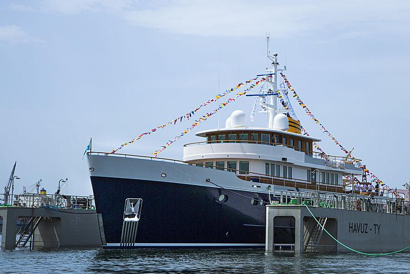 Blue II yacht launch