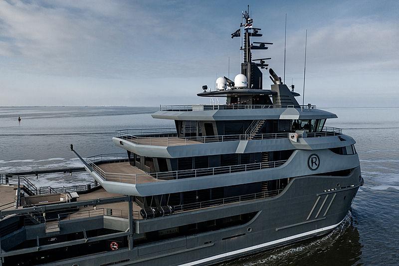 Ragnar yacht on sea trials