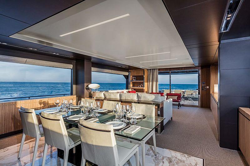 Riva 100 Corsaro yacht interior