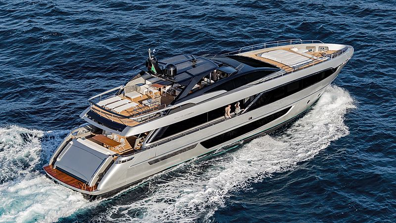 Riva 100 Corsaro yacht aerial