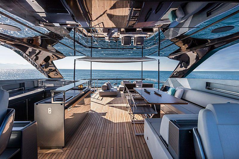 Riva 100 Corsaro yacht deck