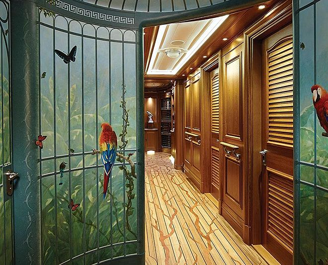 Sea Owl yacht guest corridor
