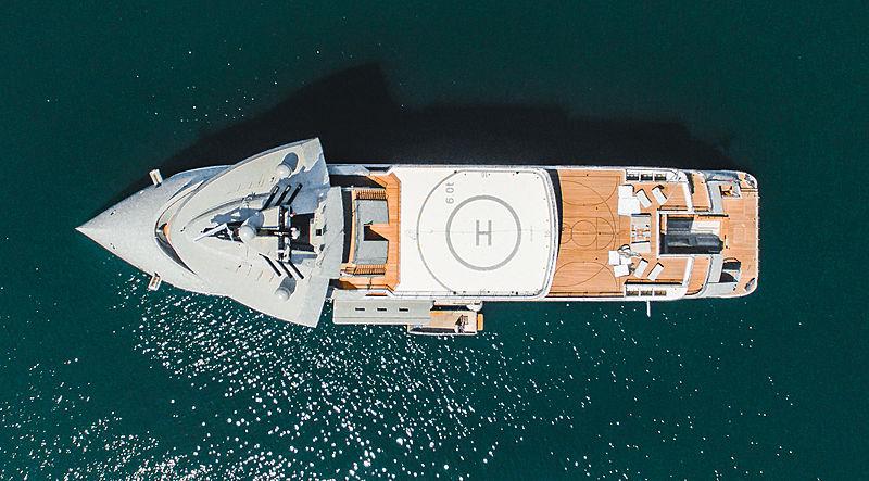 Olivia O explorer yacht in La Spezia