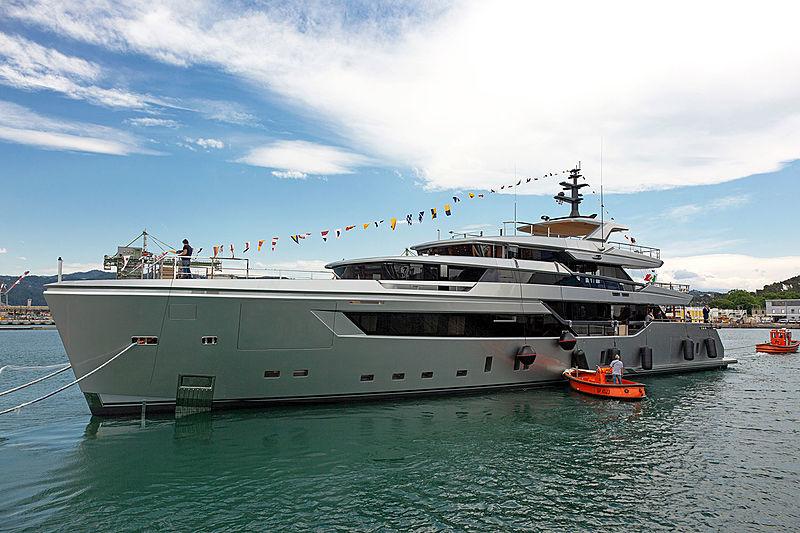H1 yacht launch at Sanlorenzo
