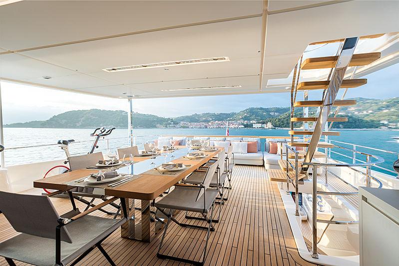 Mirabilis yacht aft deck
