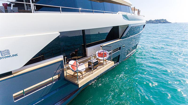 Mirabilis yacht balcony