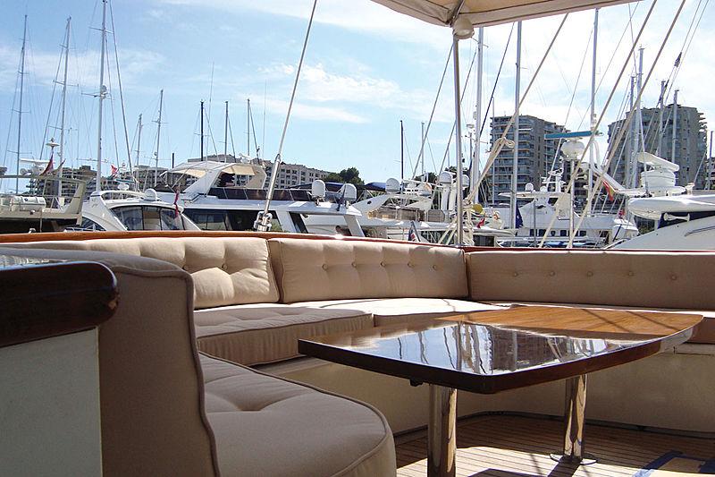 Vera IV yacht deck