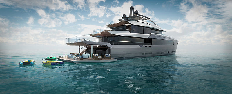 43m Project Estrade concept by Bannenberg & Rowell