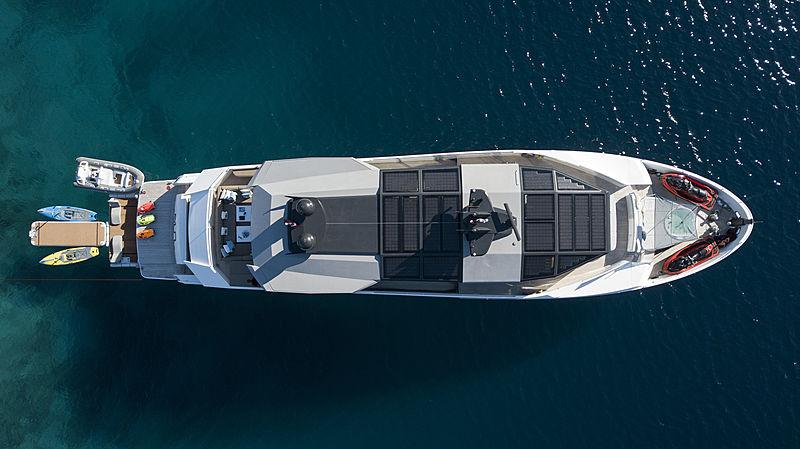 Sun yacht at anchor