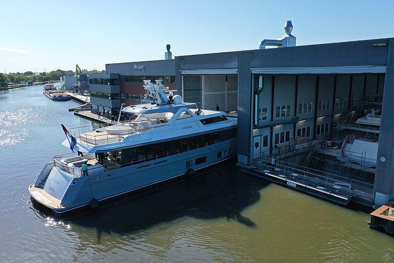 Mana yacht launch in Zoeterwoude