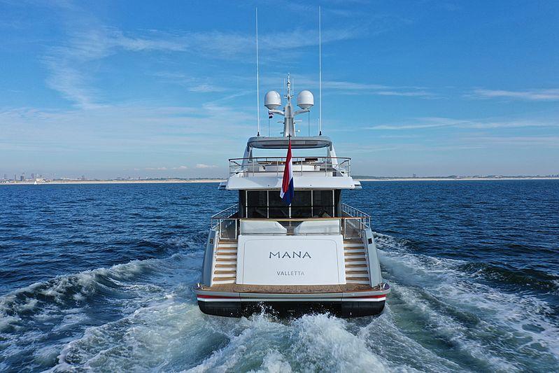 Mana yacht during sea trials