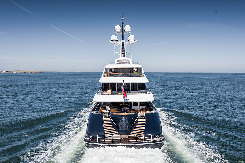 Podium yacht by Feadship on sea trials