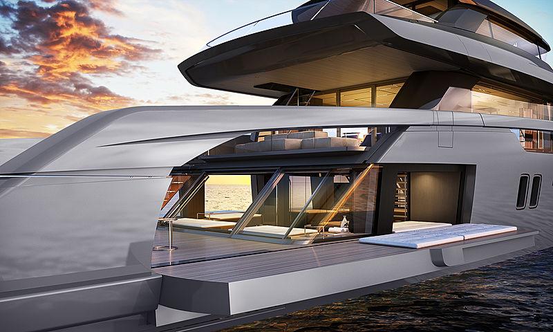 Sanlorenzo SX112 yacht rendering