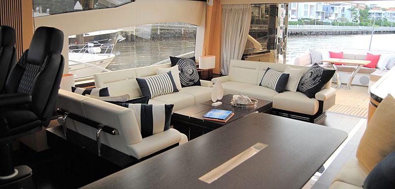 Limitless yacht saloon