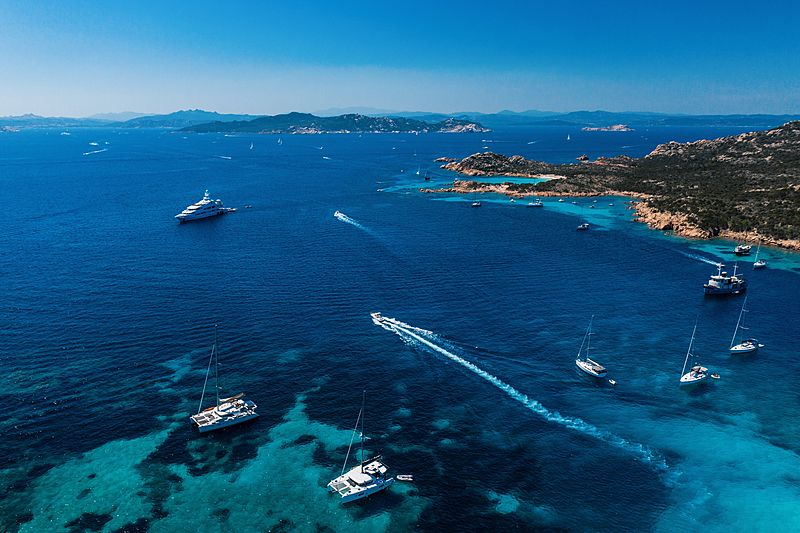 Lucky Lady yacht by Oceanco in Sardinia