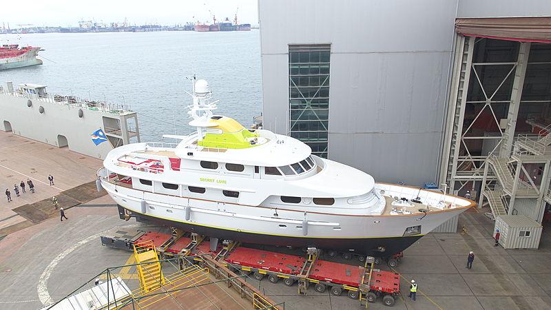 Secret Love yacht relaunch at Dunya Yachts after refit