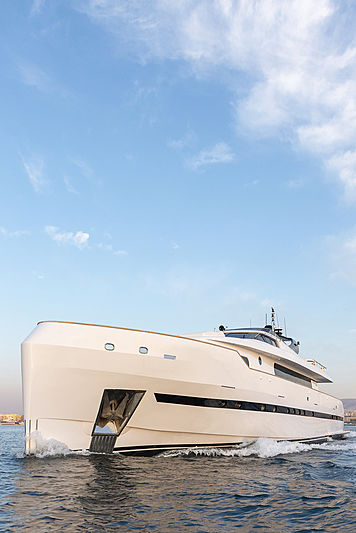 Project Steel yacht exterior