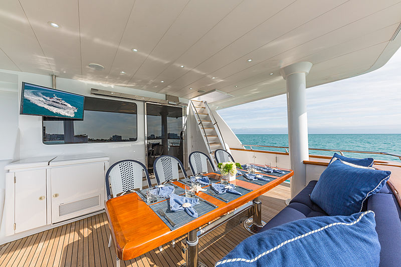 Inevitable yacht aft deck