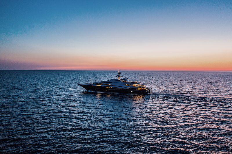 Wheels yacht by Oceanco cruising