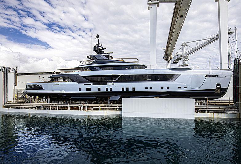 Admiral yacht Geco launch in Marina di Carrara