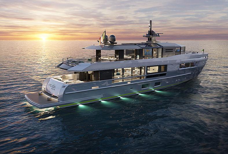 Arcadia 115/05 yacht exterior rendering