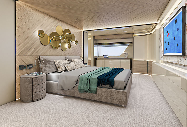 Arcadia 115/05 yacht interior rendering