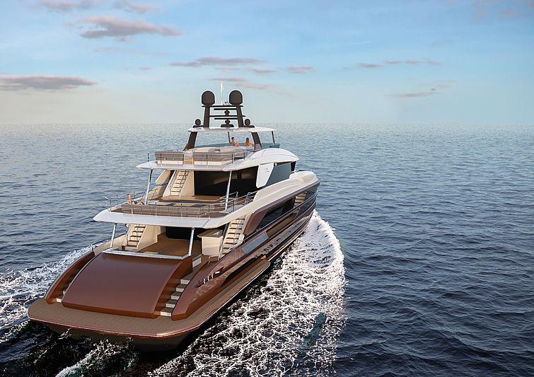Horizon FD125 yacht exterior rendering