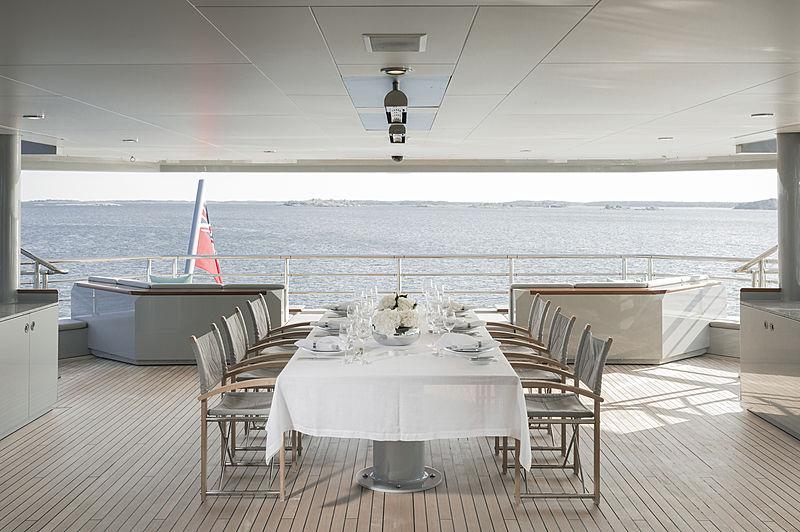 Skat yacht bridge deck aft