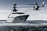 Skat yacht by Lürssen with helicopter